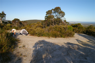 Camping at Nut Lookout