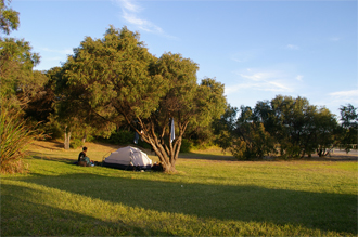 Camping at Peaceful Bay Campground