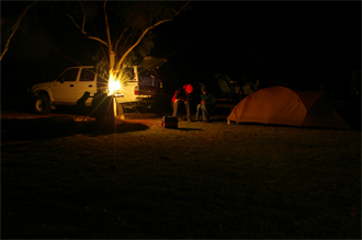 Camping in Southern Cross.