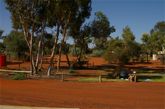 The Ayers Rock Resort campground.