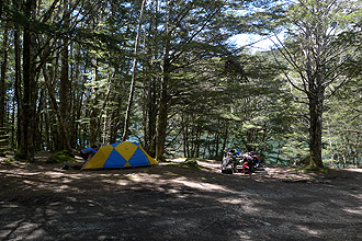 Camping at Lake Monowai.