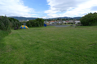 Back into the tent - Dunedin Holiday Park.